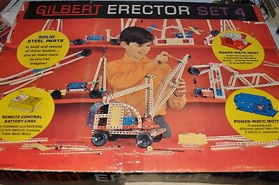 GILBERT ERECTOR SET No.4 vintage Erector SET 1960s - rj