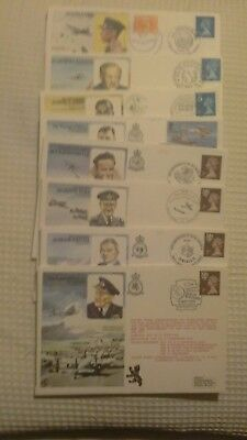 ROYAL AIR FORCE 8  ANNIVERSARY COVERS limted edtion  1976-1979