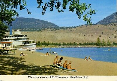 POSTCARD   The Sternwheeler S.S. Sicamous at Penticton, BC. Canada