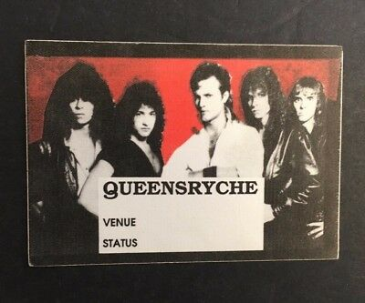 Queensryche 1986 Rage For Order Concert Tour Backstage Pass!!! Original FASSON