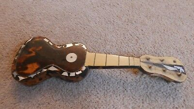 Antique Miniature Tortoiseshell & Mother of Pearl Guitar