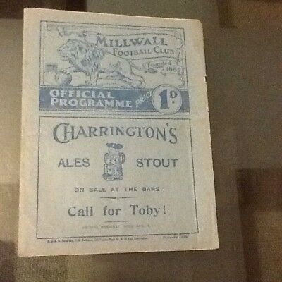 Millwall V Manchester City 8/1/ 1938 (Fa Cup Round 3)