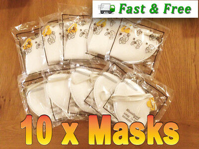 10  Dust Masks FFP2D Fold Flat Half Mask Unvalved KleenGuard, High Quality Mask