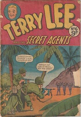 TERRY LEE AND THE SECRET AGENTS No6. AUSTRALIAN. WAR  (TERRY AND THE PIRATES)