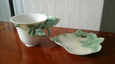 franz mint herb cup and saucer