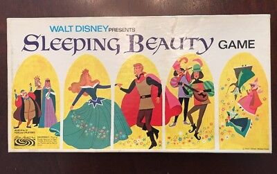 Vintage 1958 Walt Disney Sleeping Beauty Game- Complete. Beautiful Condition!
