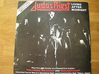 """JUDAS PRIEST Living After Midnight 12"""" Single limited Edition 1980"""