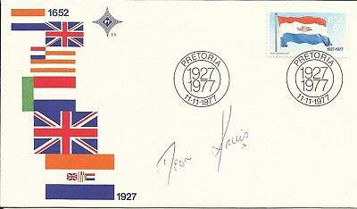 1977 South African Flag FDC, ORIGINALLY SIGNED by DEON KRUIS!
