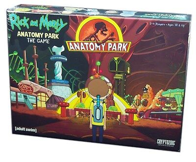 Cryptozoic Games, Rick and Morty Anatomy Park The Board Game, New and Sealed
