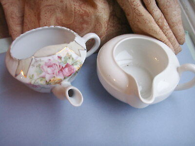 Old Vintage Antique 2 x Baby Invalid Feeders Royal Doulton & Continental C.1910