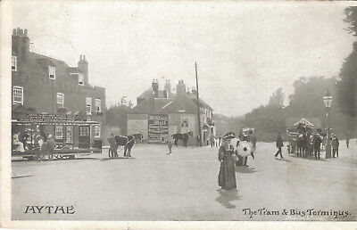 Hythe The Tram And Bus Terminus 1906