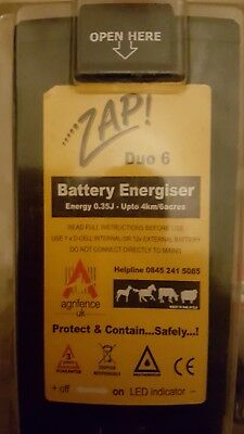 Zap battery energiser electric fence equestrian new