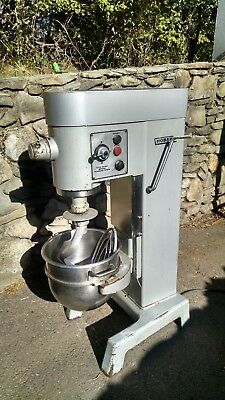 Hobart 30 qt mixer model #D330 w/ ss bowl, dough hook and flat beater