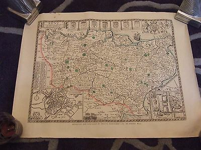 Map of Kent --C1600 - Facsimile  Map