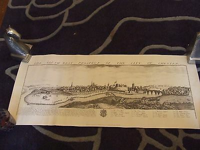 1728 - Antique sketch of Chester - Facsimile