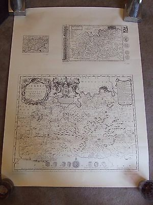 John Seller - Antique Map of SURREY - C1650 - Facsimile