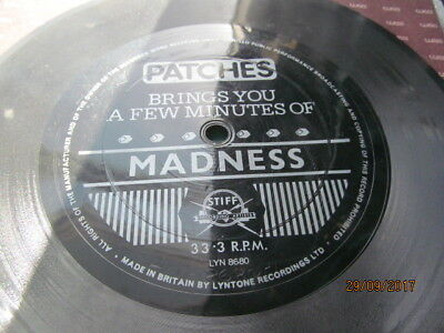 """Madness 7""""  Flexi Disc -  Patches Brings You A Few Minutes Of Madness"""
