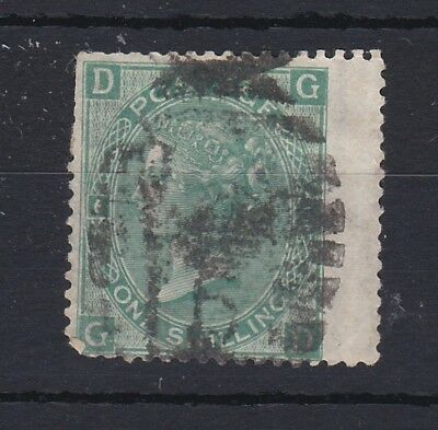 GB QV 1/- Green SG117 Plate 6 Used RB135