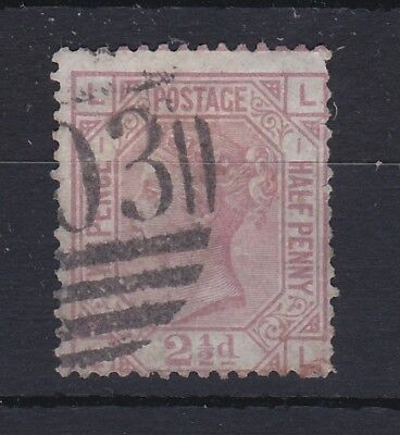 GB QV 2 1/2D Rosy Mauve SG139 Plate 1 Fine Used RB137