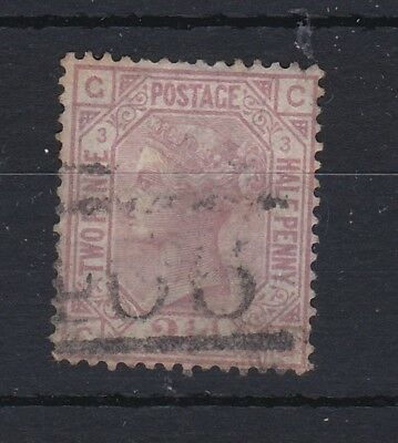 GB QV 2 1/2D Rosy Mauve SG139 Plate 3 Fine Used RB138