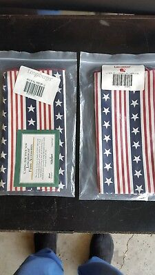 Brand New 2 packages of Longaberger Napkins, All American, original packages