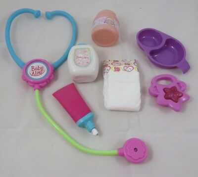Baby Alive Doll Accessories Stethoscope Baby Powder Toothpaste Rattle Medicine