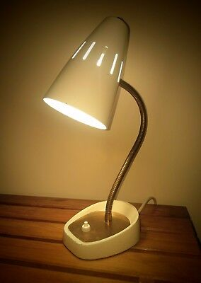 PIFCO 971 Gooseneck Table/Desk Lamp Cream c1960 retro chic 60s Vintage decor