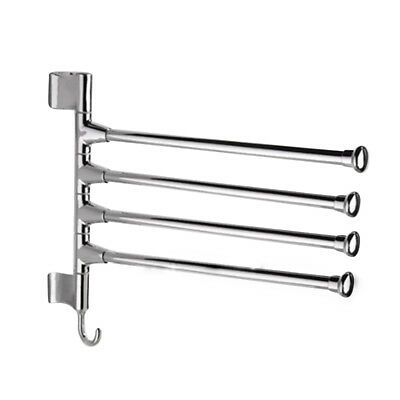 Wall-Mounted Swing 4-Arm Kitchen Towel Rack,Stainless Steel PK G9U4
