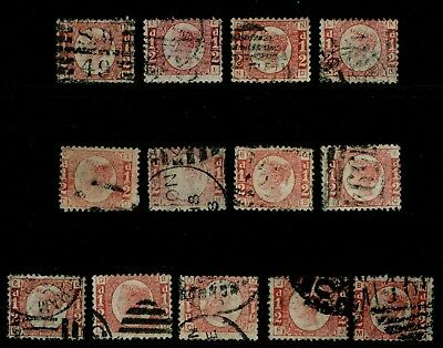 Sg48, ½d rose-red PLATES 3-20 (Missing 9), good used. Cat £460.