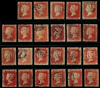 C10 1d red PLATEs 27-66 COLLECTION x 23, good used. Cat £600.