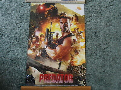 """Predator Film Poster Promotional Poster SDCC 2017 Comic Con 12"""" Ruler shows Size"""