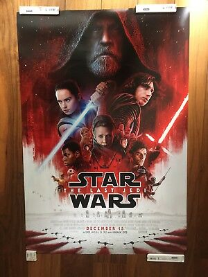 Star Wars VIII The Last Jedi 27 x 40 Double sided Movie Theater Poster Authentic