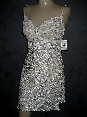 Claire Pettibone Chemise Bridal Nightgown Ivory Lace REESE Lingerie L NWT $103
