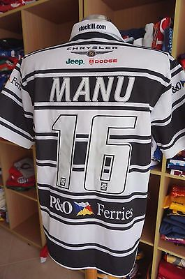 Rugby League  Shirt Hull FC 2008 (S#16 Willie Manu Home ISC Tonga Sydney Jersey