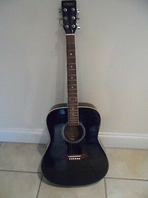 Lindo Electro/Acoustic Guitar - Phenomena series -Black