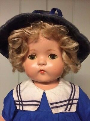 """22""""  Patsy Lou, All Original Mohair Wig,  Dress And Shoes - Excellent Condition"""