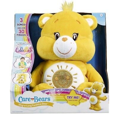 Excellent condition! care bear sing along interactive soft talking toy funshine
