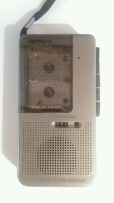 Realistic 2-Speed Micro-16 Microcassette Tape Recorder Model 14-1176