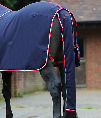 WeatherBeeta Horse Rug - Cotton Show Tail Bag in Navy/Red/White