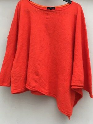 Isabella Oliver Quirky Orange Wool Maternity Jumper. S/m