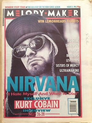 Melody Maker August 21 1993, Nirvana Kurt Cobain interview