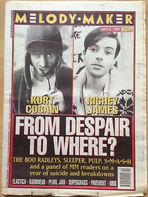 Melody Maker April 8 1995. Kurt Cobain and Richey James Nirvana Manics