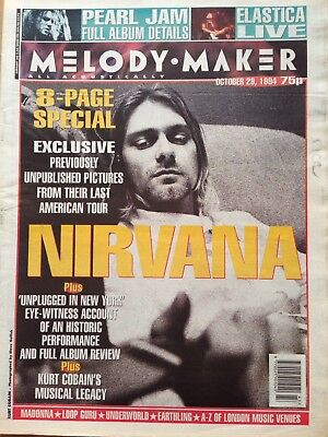 Melody Maker October 29 1994 featuring Nirvana 8 page special