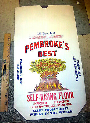 Vintage 1940s PEMBROKES BEST self rising meal bag 10 pound bag great graphics!