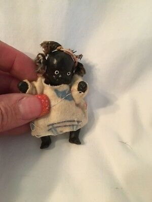 Mini Black Porcelain Baby Doll
