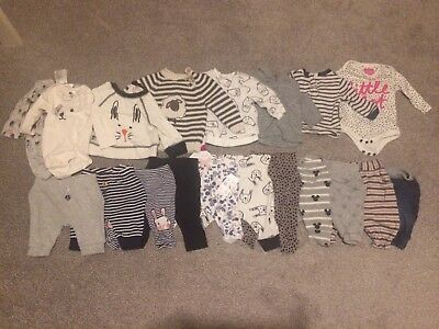 LOOK Baby Girl Clothes Bundle Newborn 0-3 Month Trousers Top  Suit Autumn Winter