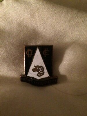 Vintage Derby County Supporters Association Enamel Badge