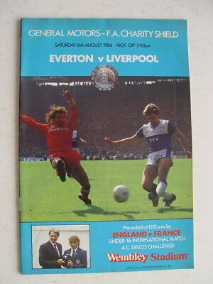 Everton v Liverpool 1986 Charity Shield