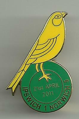 Ipswich 1 Norwich City 5 2011 Match Badge