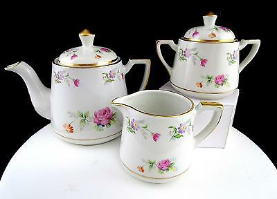 Jackson Featherweight Lord Patterson Individual Creamer, Sugar Bowl & Tea Pot